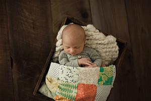 Baby Patchwork Tied Quilts, Choose size and color palette