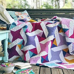 Star Dance Quilt, You choose Size and color palette