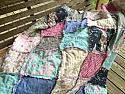 Lap Size Rag Quilt, purple aqua and gray, Throw Quilt, comfy cozy granny chic, READY TO SHIP