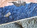 Crib Quilt, Sailors Delight, whole cloth baby quilt, shower gift, READY TO SHIP