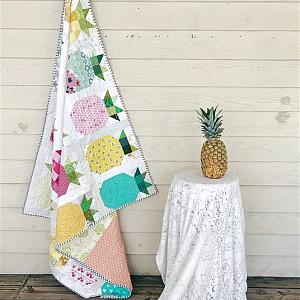 Pineapple Parade Quilt, You choose Size and color palette