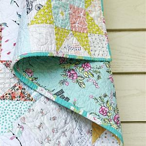 Little Miss Sawtooth Quilt, You choose Size and color palette