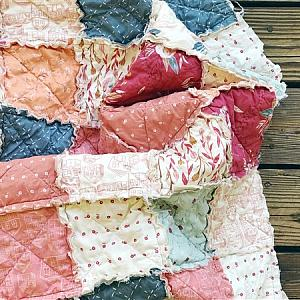 Rag Quilt - Clementine - You Choose Size