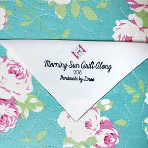 Morning Sun Corner Quilt Label - Custom and Personalized Just For You