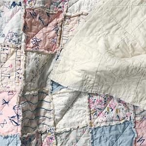 Ethereal Fusion Rag Quilt- Choose Any Size - baby crib, queen, king and more - soft dreamy pale colors