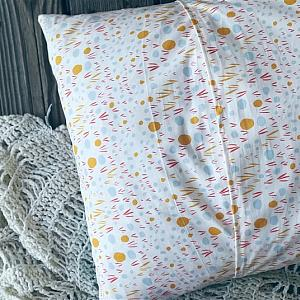 Jumbo Hexagon Pillow - Cushion Cover - Sham - Scrappy - (insert not included)