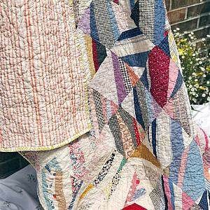 Rescue Quilt - the Scrappy String Quilt - ready to ship