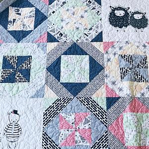 New Beginnings, Picnic Lap Throw Quilt, READY TO SHIP