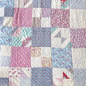 Granny Chic Quilt - Rescue Quilt - READY TO SHIP - quilts for sale - Heavy Thick Quilt - Twin Size