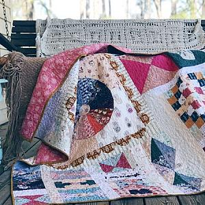 I am Enough quilt - Throw Size - READY TO SHIP - quilts for sale