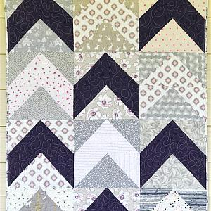 Follow Your Arrow Crib Quilt for babies, Choose your own colors
