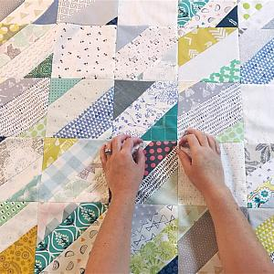 Landslide Quilt, You choose Size and color palette