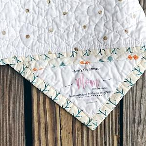 Flourish - Triangle Corner Quilt Label - Custom and Personalized Just For You