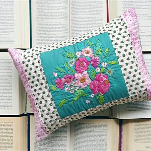 Embroidered Florals Pillow - Granny Chic Home Decor - Cushion - Throw Pillow - READY TO SHIP -