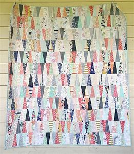 Scrappy Tumbler Quilt, You choose Size and color palette