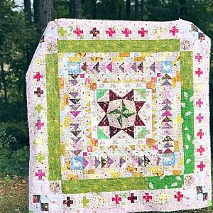 Marcelle Medallion Quilt, Large Throw Size, READY TO SHIP - quilts for sale