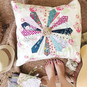 Boho Dresden Pillow Cover, Scrappy
