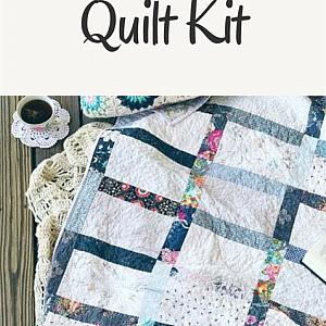 Quilt Kit - The Good Girl Quilt  - Make a Quilt - Monochromatic