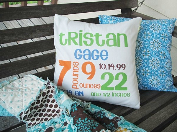 Baby Birth Stat Pillow