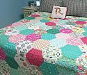 Hexagon Quilt, You choose Size and color palette