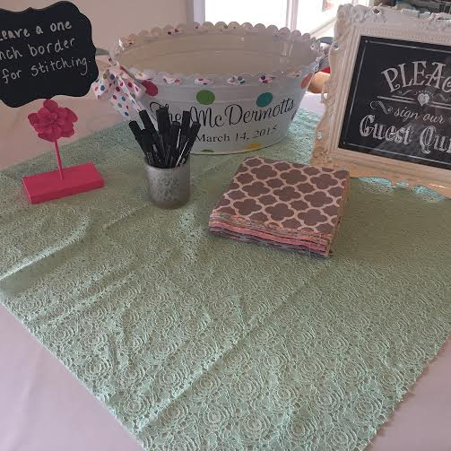 Guest Book Quilt with THE BIG CENTER NAME PLATE